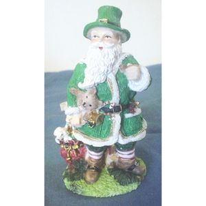 Irish Father Xmas Santa Germany Resin Figurine EC